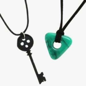 Coraline Key and Seeing Stone necklace set
